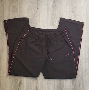 Nike Track Cropped Pants Pink and Black